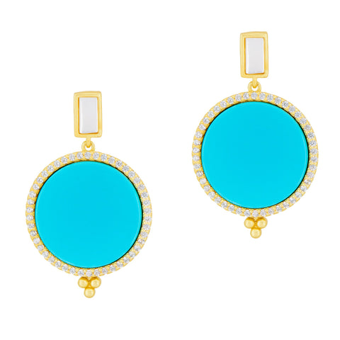 Candy Drop Flat Earring