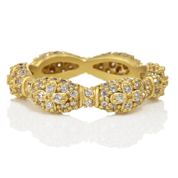 PAVÌä Marquise Domed Eternity Band Ring - FREIDA ROTHMAN