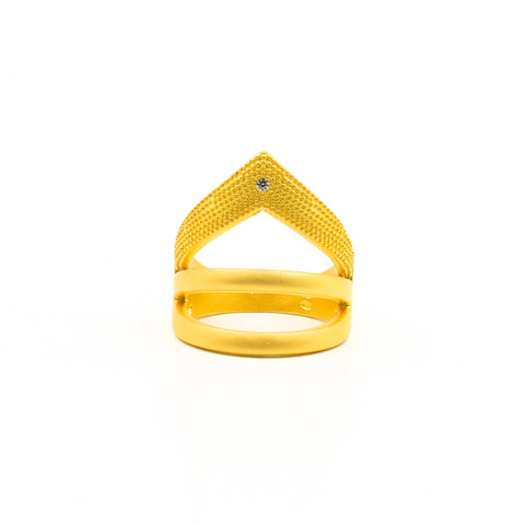 Single Stone Arrow Ring