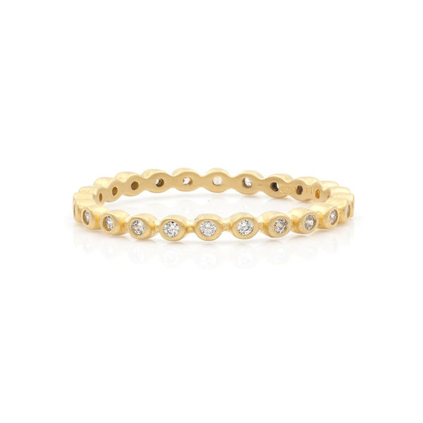 Bezel Pavé Stack Ring