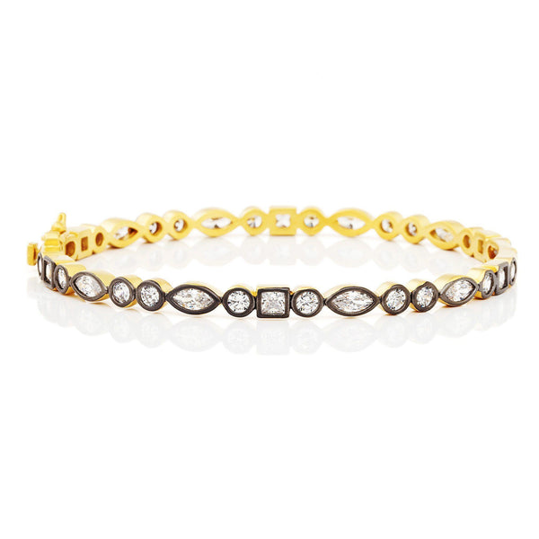 Signature Mixed Shapes Hinge Bangle - FREIDA ROTHMAN
