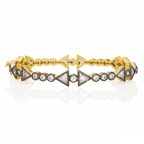 Arrow Stone Hinge Bangle - FREIDA ROTHMAN