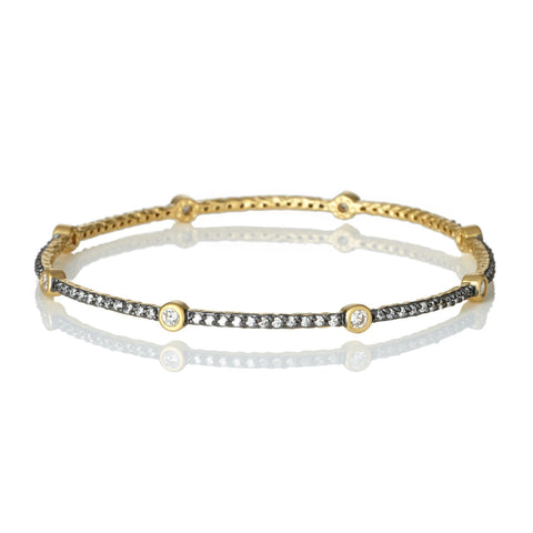 Signature Bezel Station Bangle - FREIDA ROTHMAN