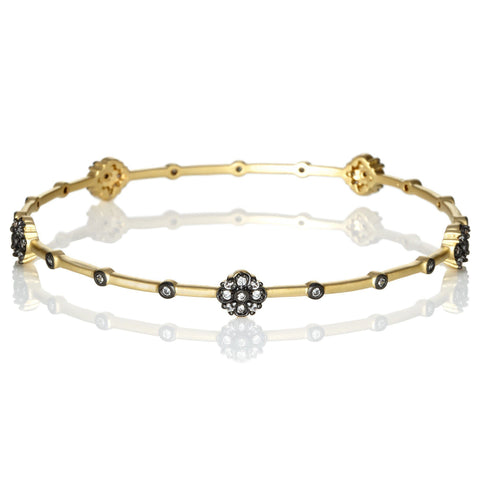 Floral Station Bangle - FREIDA ROTHMAN