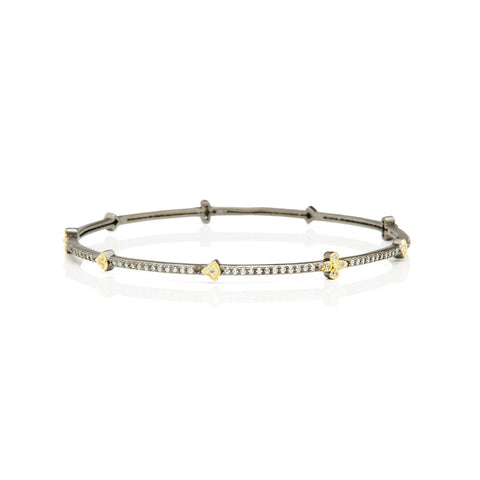 Signature Clover Station Bangle - FREIDA ROTHMAN