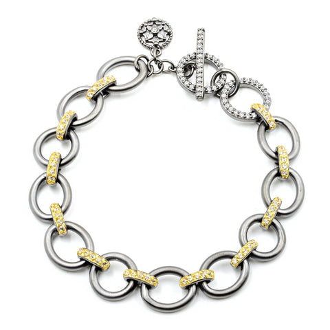 BRACELET - Contemporary Deco Chain Link Bracelet