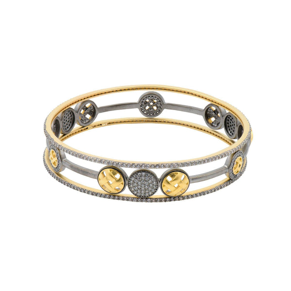 Lattice Motif Splice Bangle Set - FREIDA ROTHMAN