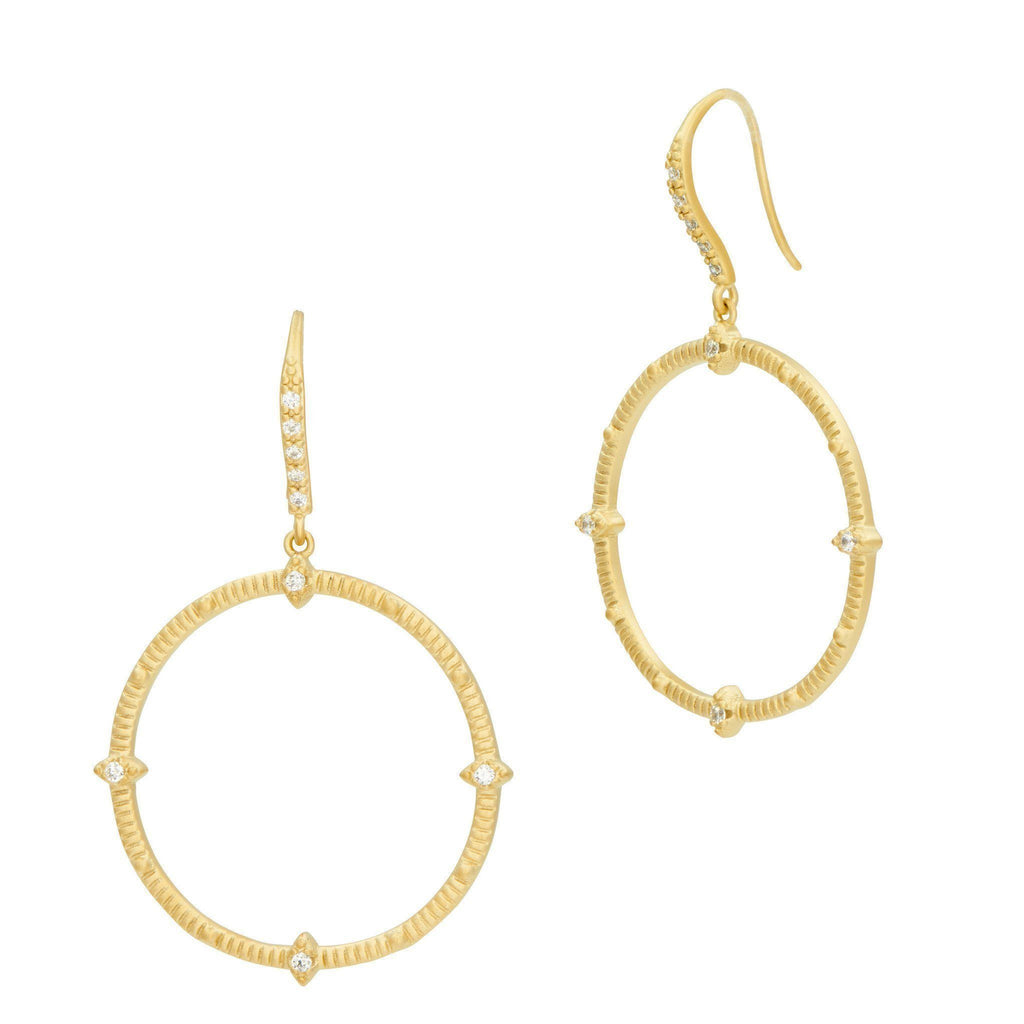 EARRING - Amazonian Allure Open Drop Hoop Earrings
