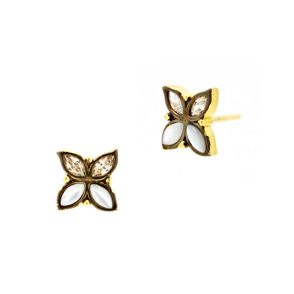 EARRING - Fleur Bloom Leaflet Stud Earrings