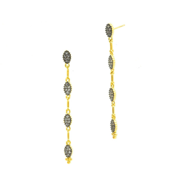 EARRING - Fleur Bloom Petal Station Drop Earrings
