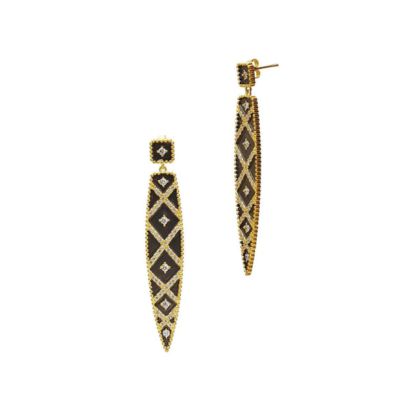 EARRING - Geometric Stripe Spear Drop Earrings