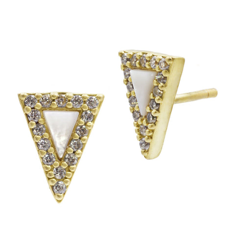Slice Stud Earrings - FREIDA ROTHMAN