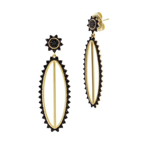 EARRING - Harlequin Edge Drop Oval Earrings