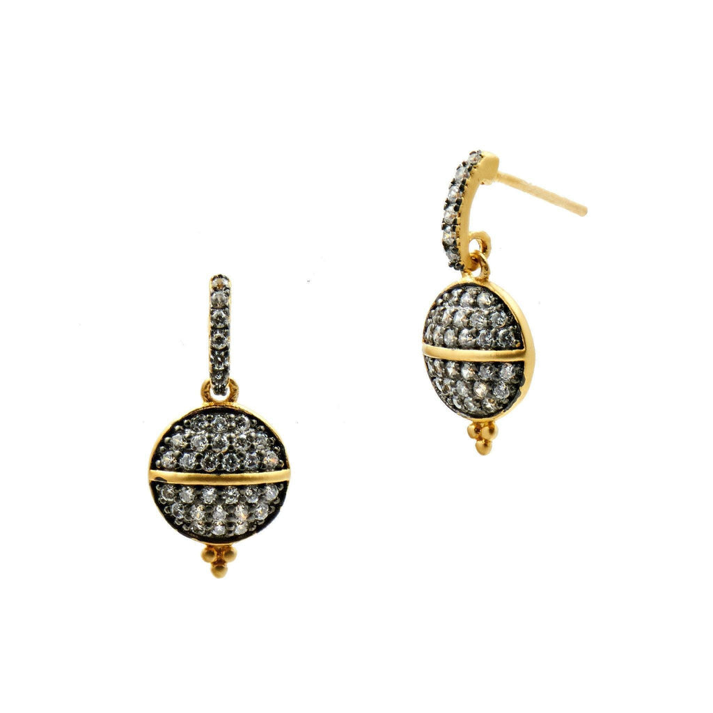 EARRING - Lattice Motif Pavé Earrings