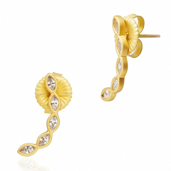 Marquise Climber Earrings