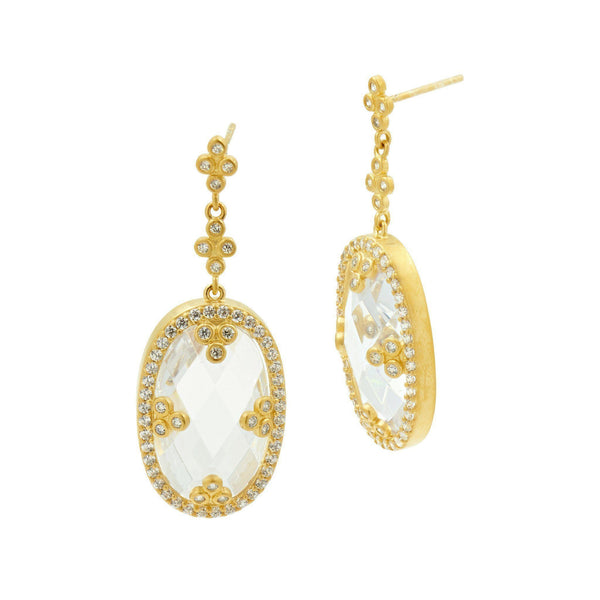 EARRING - Mirror Mirror With CZ Earrings