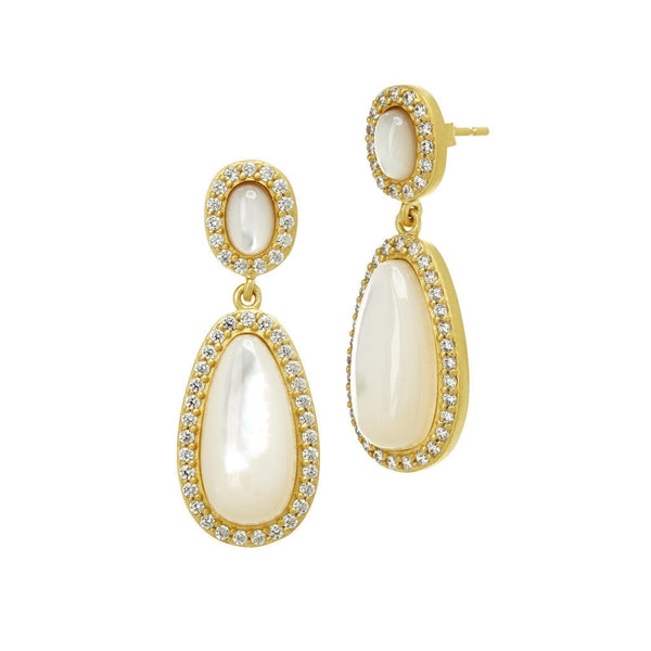 EARRING - Mother Of Pearl Teardrop Earrings