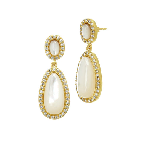 Mother of Pearl Teardrop Earrings - FREIDA ROTHMAN