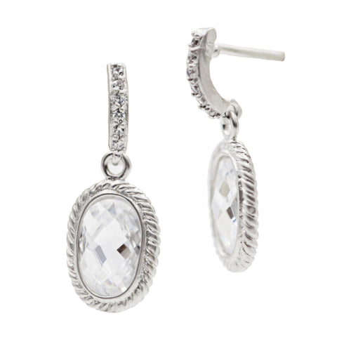 Pav̩ Raindrop Earrings - FREIDA ROTHMAN