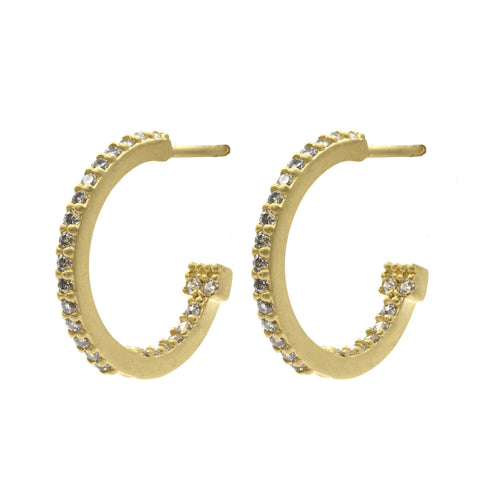 Pavé Small Hoop Earrings - FREIDA ROTHMAN