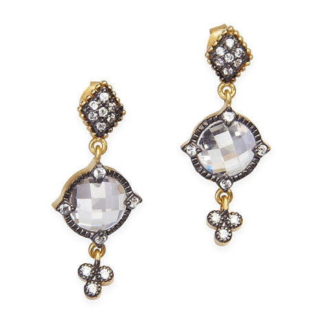 Signature Mirror Stone Drop Earrings - FREIDA ROTHMAN
