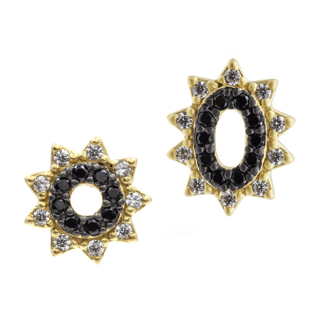 EARRING - Spiked Oval Studs