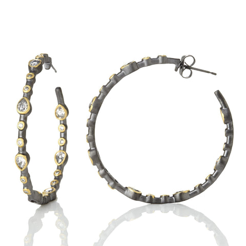 Signature Teardrop Hoop Earrings - FREIDA ROTHMAN