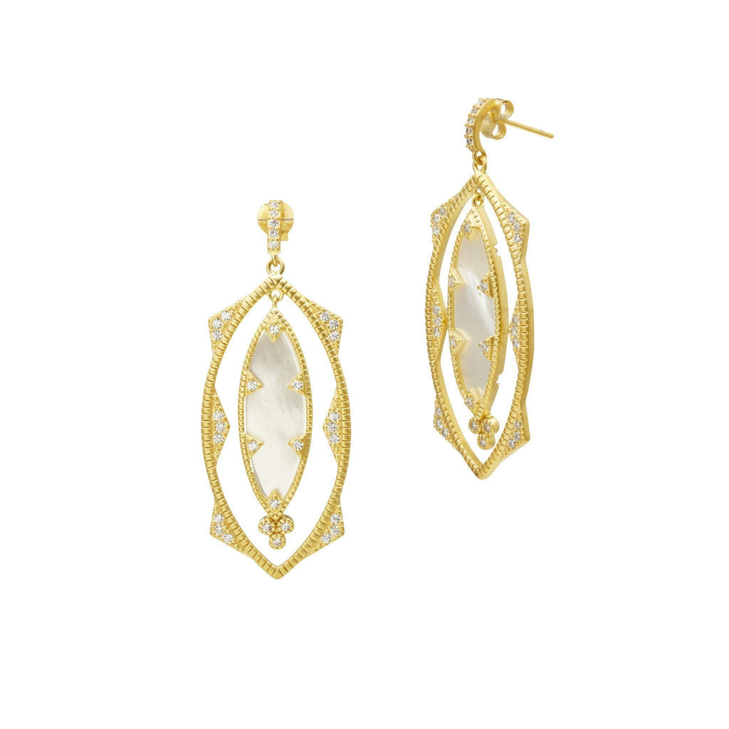 EARRING - Textured Pearl MOP Eyelet Earrings