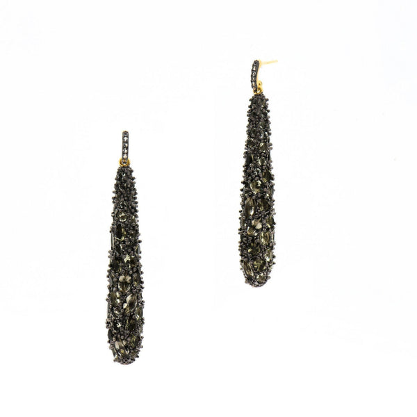 Earrings - Rose D'or Marquise Drop Earrings