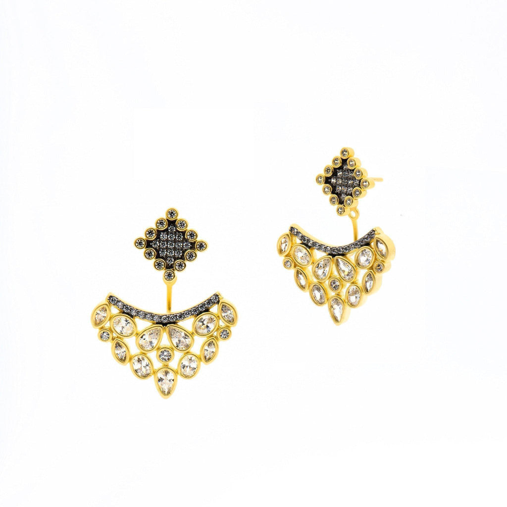 Earrings - Rose D'or Wreath Drop Earrings