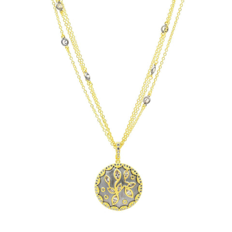 Fleur Bloom Petal Medallion Necklace - FREIDA ROTHMAN
