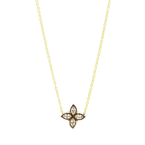 Fleur Bloom Petal Pendant Necklace - FREIDA ROTHMAN