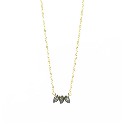 Fleur Bloom Triple Petal Necklace - FREIDA ROTHMAN