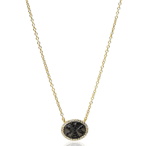 Geometric Stripe Pendant Necklace - FREIDA ROTHMAN