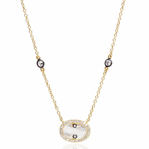 Oval Pendant Necklace - FREIDA ROTHMAN