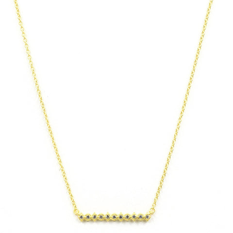Roped Bar Necklace - FREIDA ROTHMAN