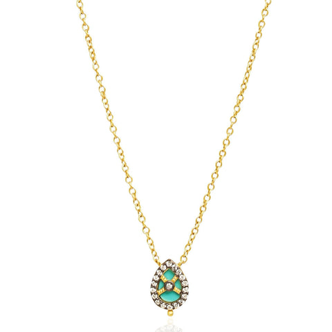 Small Teardrop Cage Pendant Necklace - FREIDA ROTHMAN