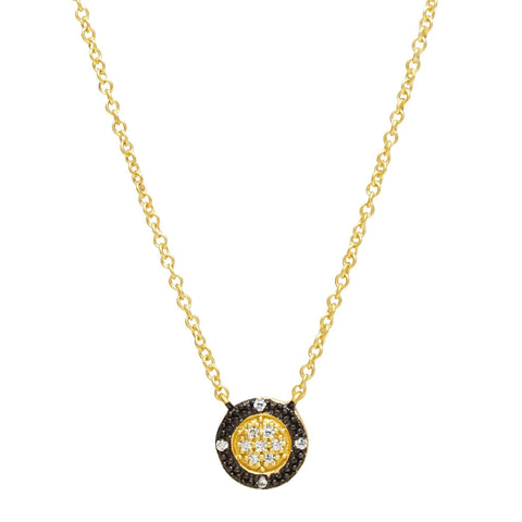 Two-Tone Pavé Round Necklace