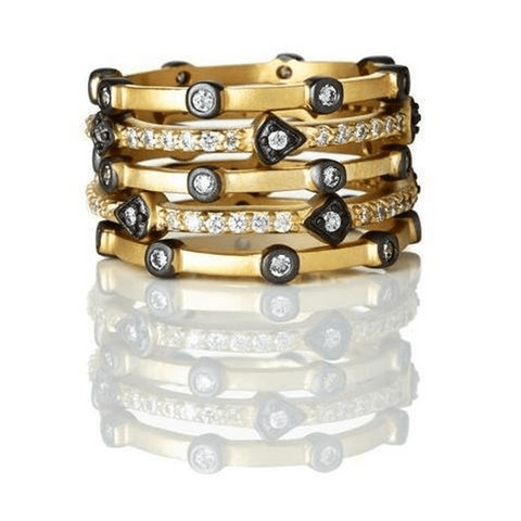 Mixed Thin Bezel Set of 5-Stack Ring