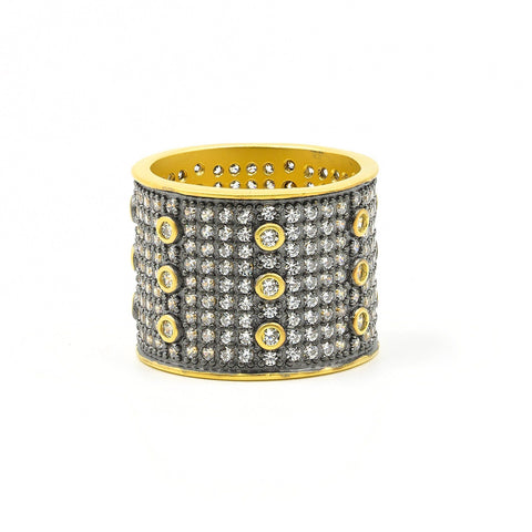 Signature Pavé Cigar Band Ring - FREIDA ROTHMAN