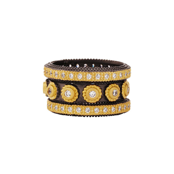 Studded Triple Ring Set - FREIDA ROTHMAN