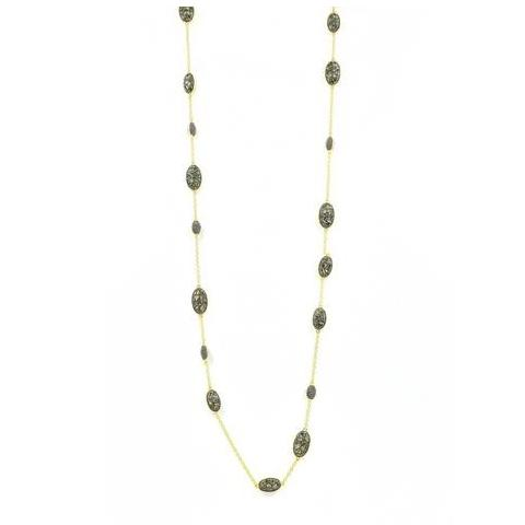 Rose D'or Rosary Station Necklace