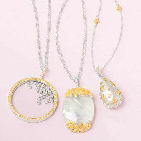 Fleur Bloom Statement Pendant Necklaces