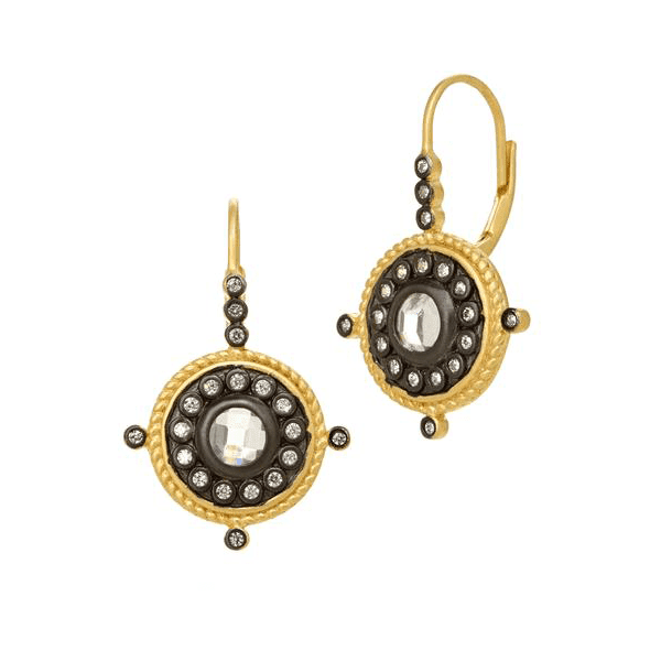 Nautical Button Leverback Earrings