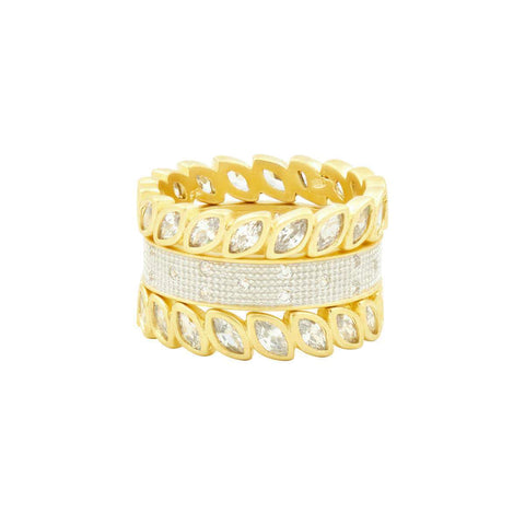 Fleur Bloom 3-Stack Rings
