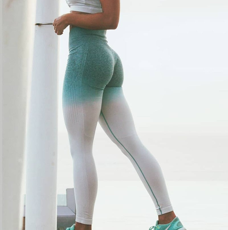 Multi-Color Leggings - Blue/White