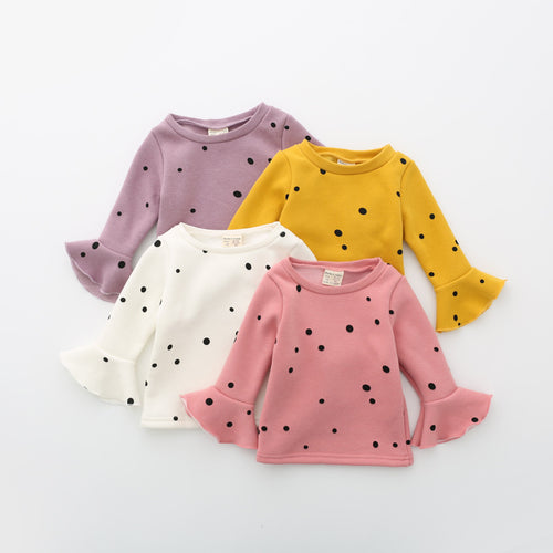 Thick Velvet Polka Dot Sweater