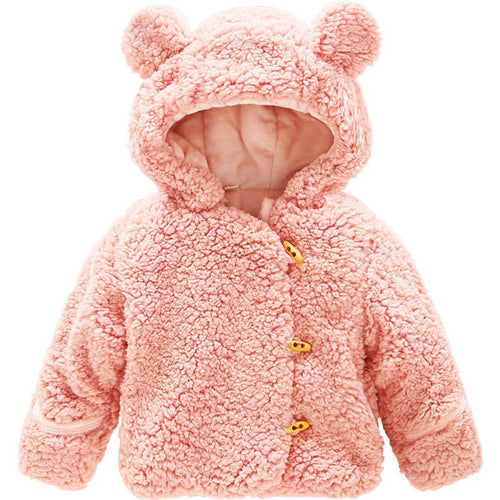 Baby Girl Bear Jacket