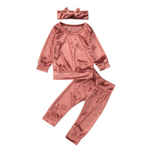 Crushed Velvet Tracksuit + Bow