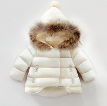Warm Winter Coat With Fur Collar